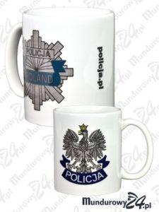 Kubek ceramiczny POLICJA-POLAND - kolor