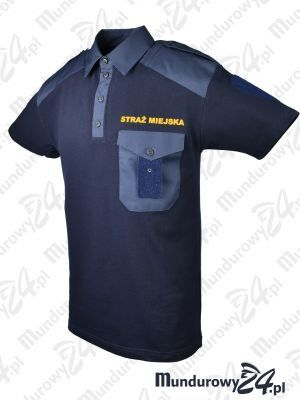 Koszulka polo służbowa STRAŻ MIEJSKA, granatowa
