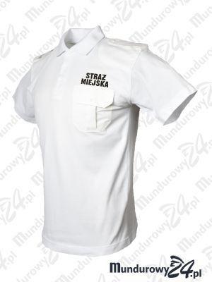 Koszulka polo mundurowa STRAŻ MIEJSKA, biała