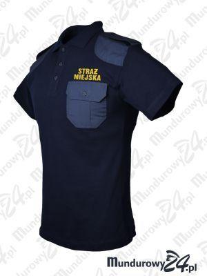 Koszulka polo mundurowa STRAŻ MIEJSKA, granatowa
