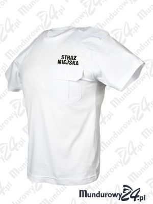 Koszulka t-shirt z naramiennikami STRAŻ MIEJSKA - biały