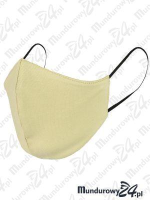 Anatomiczna maska ochronna, wielorazowa - wz3, beżowa
