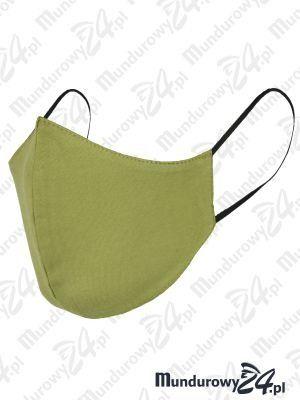 Anatomiczna maska ochronna, wielorazowa - wz3, zielona