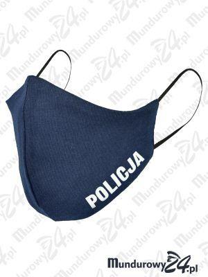 Anatomiczna maska ochronna, wielorazowa, POLICJA - wz3, granatowa