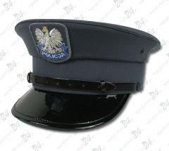 Czapka gabardynowa POLICJA - bez galona