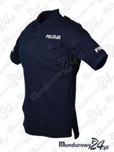 Koszulka polo służbowa POLICJA, napisy odblaskowe