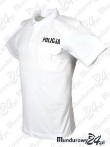 Koszulka polo mundurowa POLICJA, damska, biała