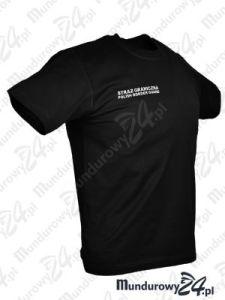 Koszulka t-shirt służbowa STRAŻ GRANICZNA PBG, czarna