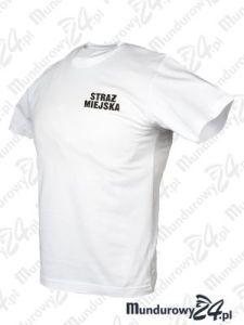 Koszulka t-shirt STRAŻ MIEJSKA - biały