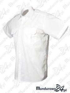 Koszula wyjściowa, krótki rękaw, biała