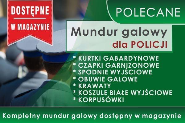 Mundur galowy dla POLICJI dostępny w magazynie! Polecamy!
