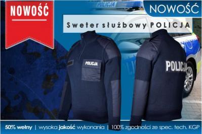 NOWOŚĆ! Sweter służbowy POLICJA