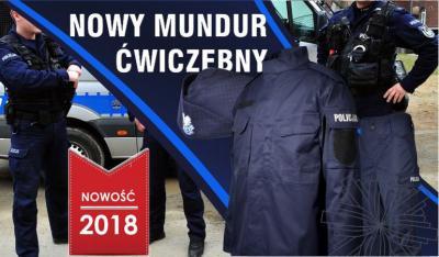 Mamy NOWE GRANATOWE mundury ćwiczebne POLICJI