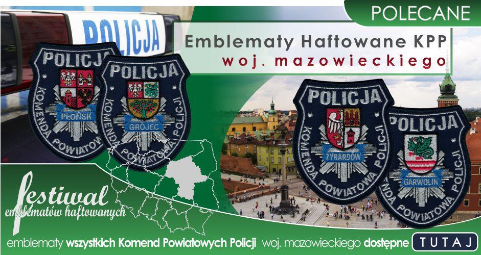 Emblematy Haftowane KPP woj. mazowieckiego dostępne w Mundurowy24.pl