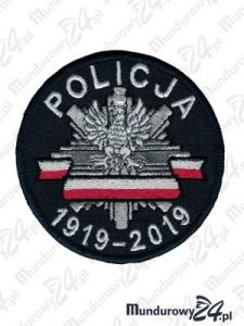 Emblemat Policja 100-lecie 1919-2019