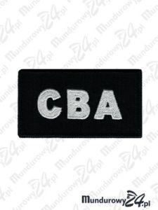 Emblemat CBA 85x45 - czarny
