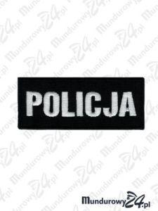 Emblemat POLICJA 100x40 - czarny