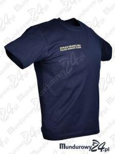 Koszulka t-shirt służbowa STRAŻ GRANICZNA PBG, granatowa