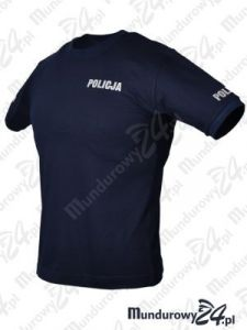 Koszulka t-shirt POLICJA służbowa