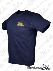Koszulka t-shirt STRAŻ MIEJSKA - granatowy