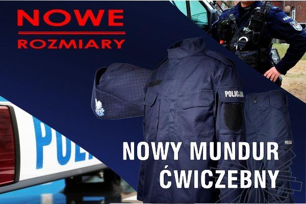NOWE ROZMIARY granatowych mundurów ćwiczebnych POLICJI