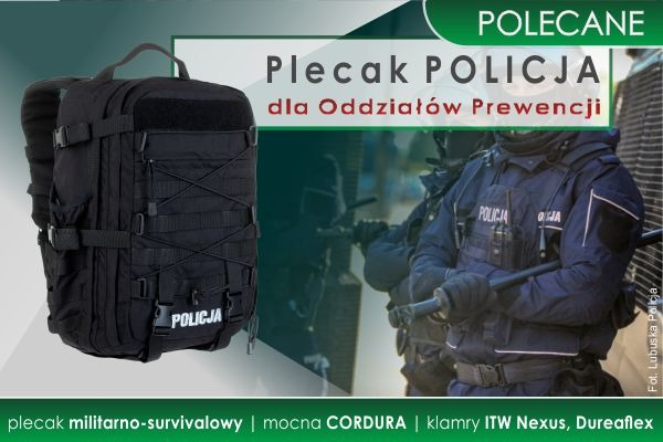 POLECAMY Plecak Oddziałów Prewencji POLICJI