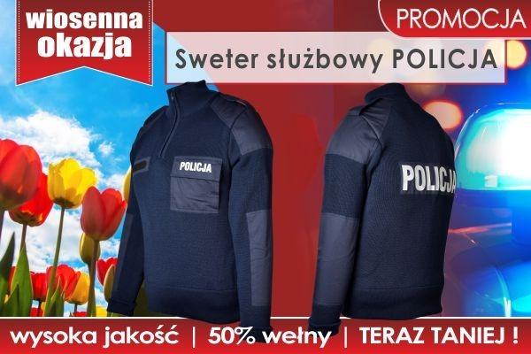 PROMOCJA! Sweter służbowy POLICJA