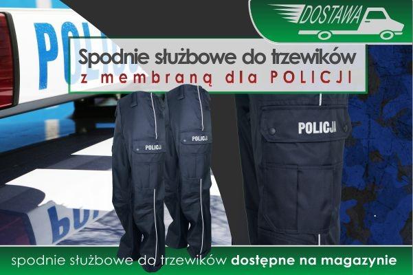NOWA DOSTAWA spodni służbowych do trzewików POLICJA