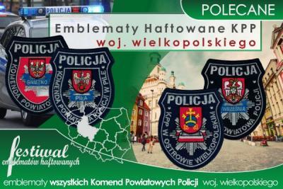 Emblematy haftowane dla wszystkich KPP woj. wielkopolskiego