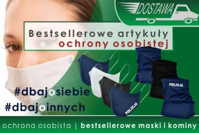 NOWA DOSTAWA bestsellerowych artykułów ochrony osobistej - maski i kominy znowu dostępne