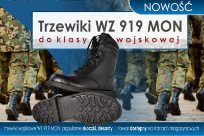 NOWOŚĆ! Trzewiki wojskowe 919/MON desanty