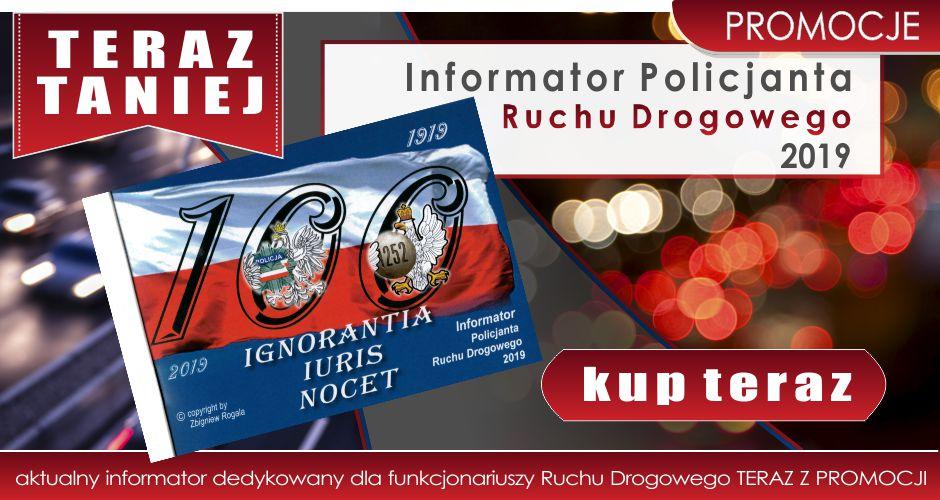 SUPER PROMOCJA - Mandatownik Policjanta Ruchu Drogowego 2019 w niższej cenie