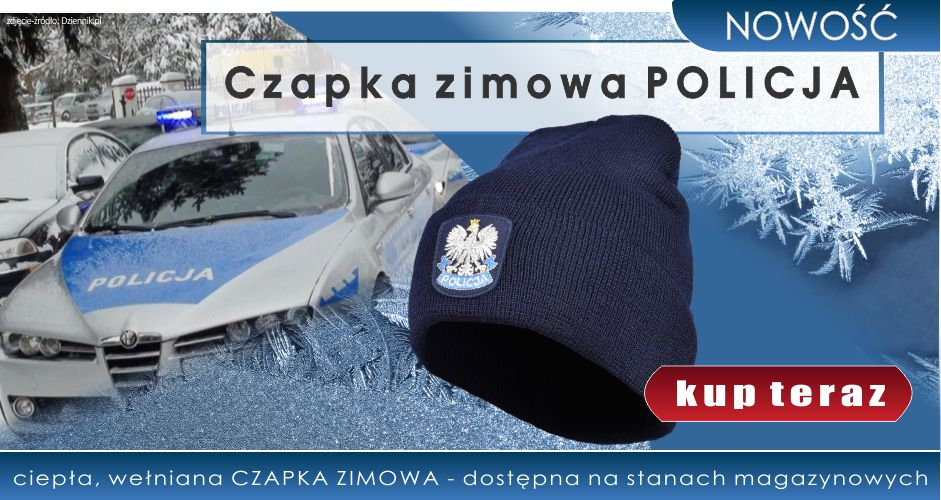 NOWOŚĆ! Czapka zimowa POLICJA