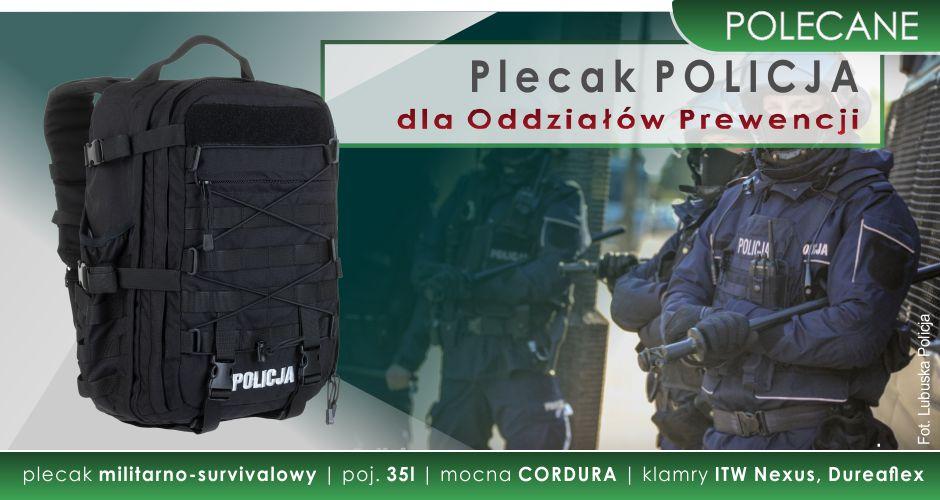 POLECAMY! Plecak Oddziałów Prewencji Policji w ofercie Mundurowy24.pl