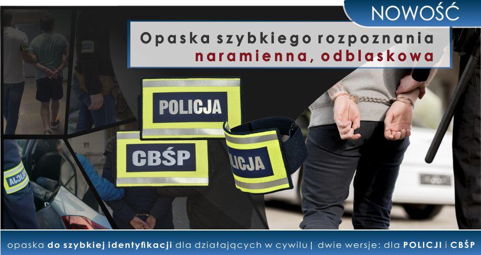NOWOŚĆ! Opaska szybkiego rozpoznania POLICJA, CBŚP