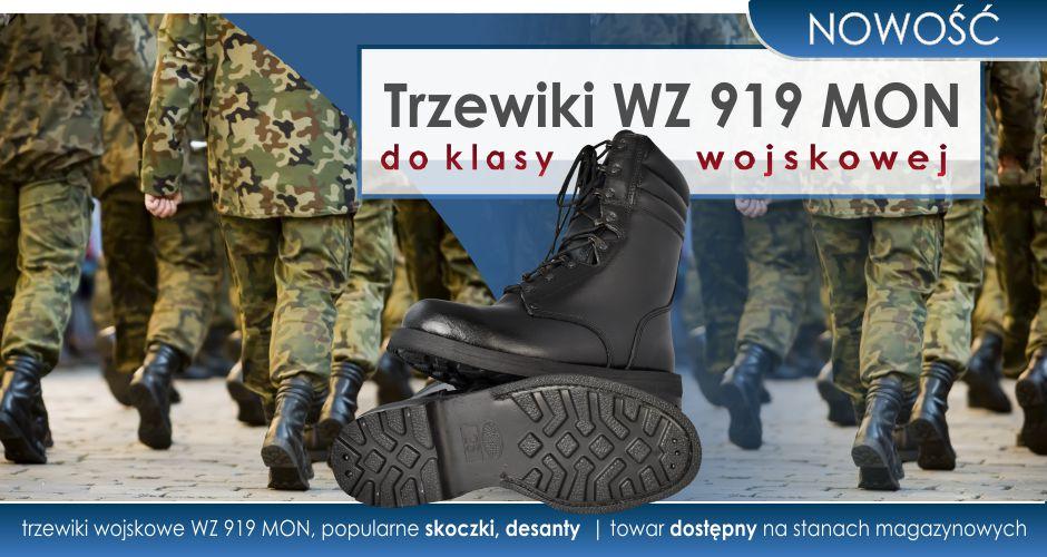 Nowość trzewiki desanty, popularne skoczki dla Klas mundurowych.