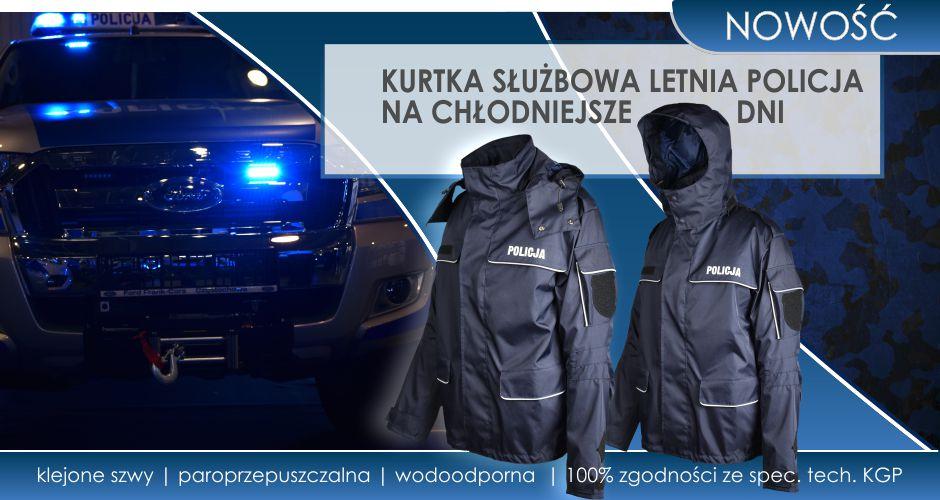 Kurtka służbowa letnia dla Policji już w ofercie.