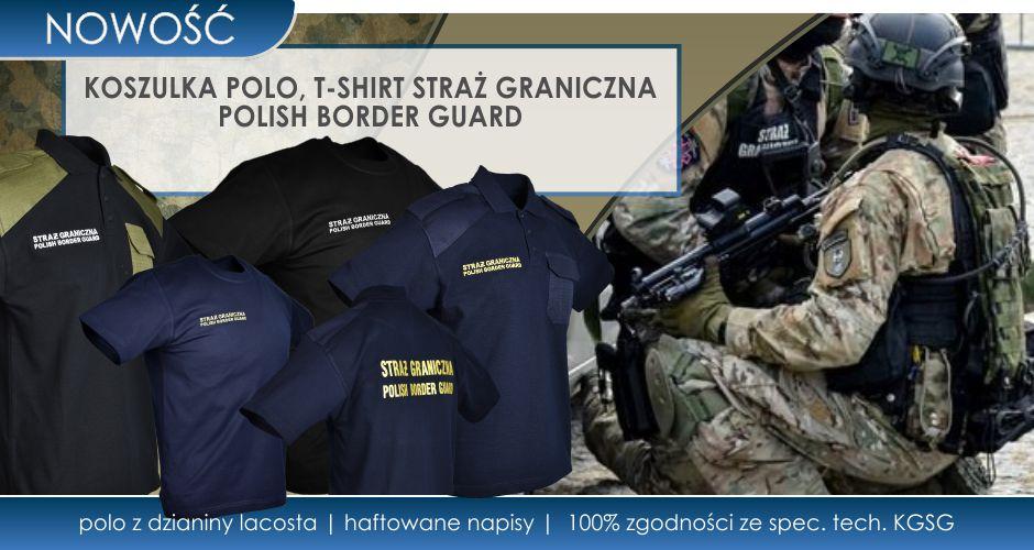 Koszulki Straż Graniczna Polish Border Guard do nowego umundurowania
