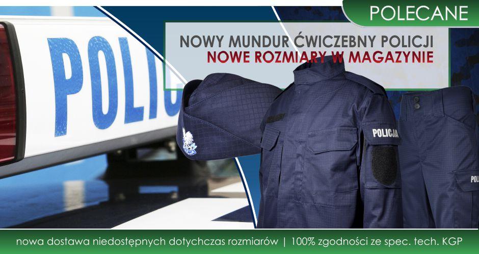 Dostawa nowych rozmiarów munduru ćwiczebnego Policji