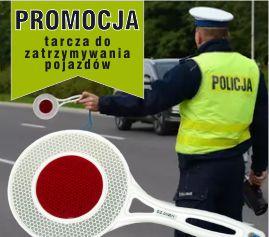 Promocja Tarcza do zatrzymywania pojazdów Promocja Tarcza do zatrzymywania pojazdów - Lizak policyjny