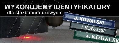 Wykonujemy identyfikatory dla służb mundurowych