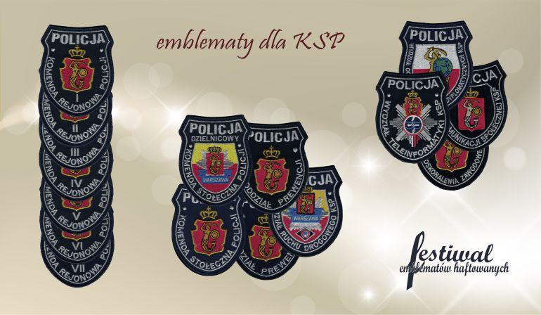 EMBLEMATY KOMENDY STOŁECZNEJ POLICJI
