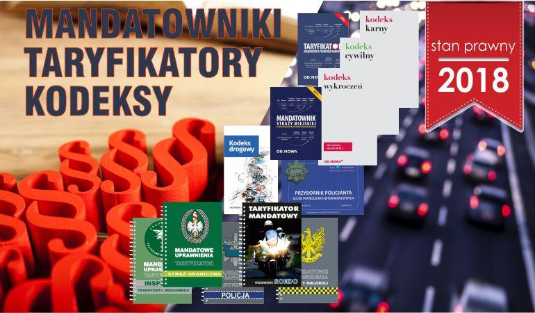 Mandatowniki, Taryfikatory, Kodeksy, stan prawny 2018
