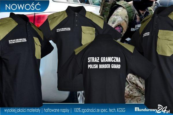 Koszulka polo służbowa STRAŻ GRANICZNA czarna