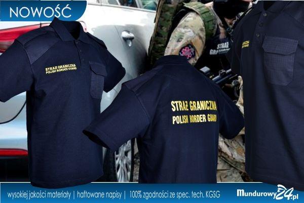 Koszulka polo służbowa STRAŻ GRANICZNA granatowa