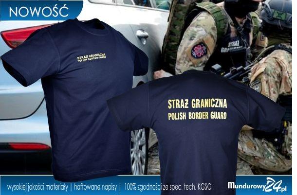 Koszulka t-shirt służbowa STRAŻ GRANICZNA granatowa